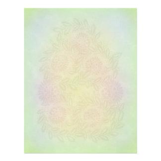 Diseño floral en colores pastel membretes personalizados