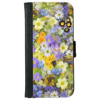 Diseño floral en el caso Iphone6 Funda Cartera Para iPhone 6