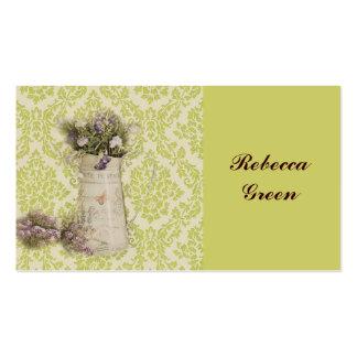 diseño floral en jarra de la lata en wallp floral  tarjetas de visita