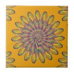 Diseño floral espiral del arco iris - fondo anaran tejas  cerámicas