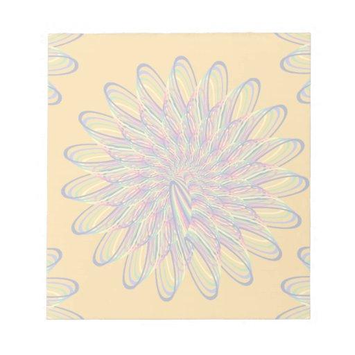 Diseño floral espiral del arco iris - fondo anaran bloc