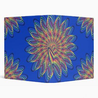 Diseño floral espiral del arco iris - fondo azul