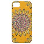 Diseño floral espiral del arco iris - fondo iPhone 5 cárcasas
