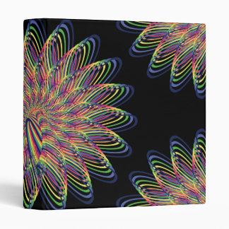 Diseño floral espiral del arco iris - fondo negro