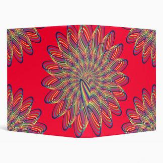 Diseño floral espiral del arco iris - fondo rojo