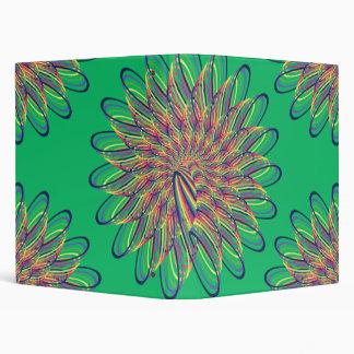 Diseño floral espiral del arco iris - fondo verde