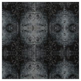 Diseño floral estilizado de la suposición gris telas