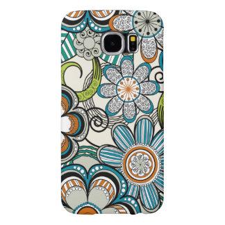 Diseño floral femenino de Mehndi, trullo Fundas Samsung Galaxy S6