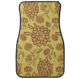 Diseño floral floral del modelo de Brown de la Alfombrilla De Auto