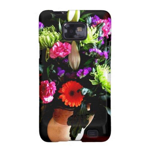 diseño floral, fotografía original galaxy SII carcasa