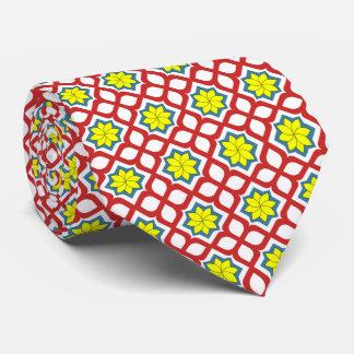 Diseño floral geométrico del este corbatas
