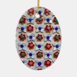 Diseño floral grabado en relieve adorno