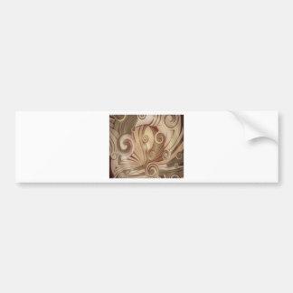 Diseño floral hermoso de los remolinos pegatina de parachoque