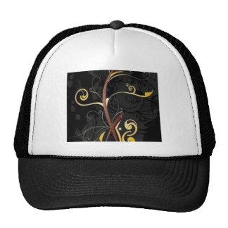 Diseño floral hermoso de los remolinos de Darck Gorros