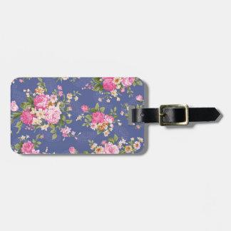 Diseño floral hermoso etiquetas para maletas