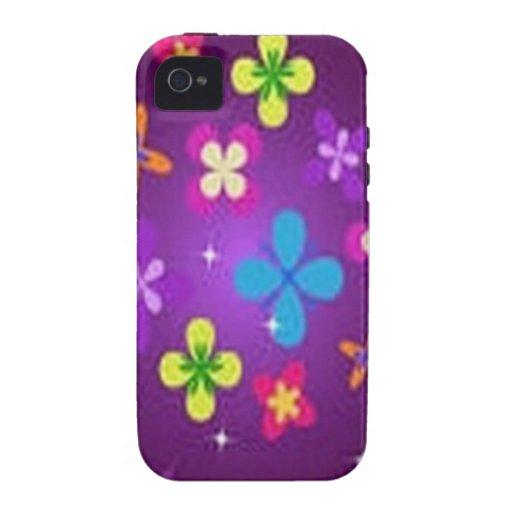 Diseño floral impresionante iPhone 4 fundas
