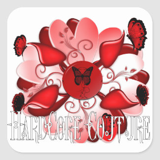 Diseño floral incondicional 1 pegatina cuadrada