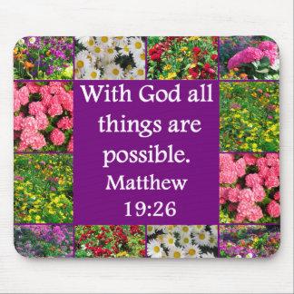 DISEÑO FLORAL INSPIRADOR DEL 19:26 DE MATTHEW MOUSEPAD