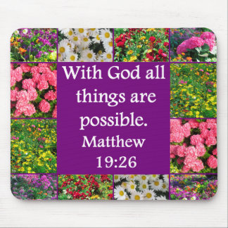 DISEÑO FLORAL INSPIRADOR DEL 19:26 DE MATTHEW ALFOMBRILLA DE RATÓN