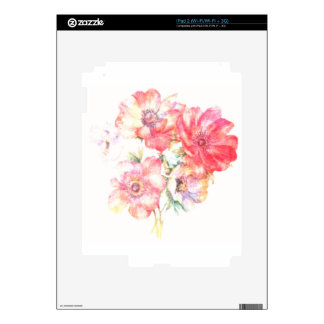 Diseño floral ligero iPad 2 skins