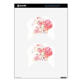 Diseño floral ligero mando xbox 360 skins