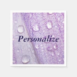 Diseño floral macro de la violeta de la primavera servilletas de papel