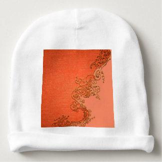 Diseño floral maravilloso en colores suaves gorrito para bebe
