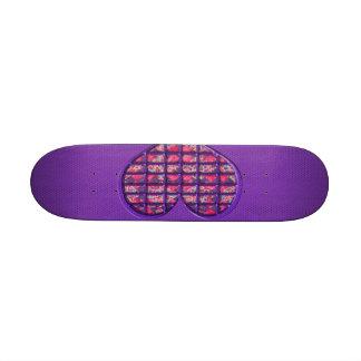 Diseño floral material del corazón femenino rosado patineta personalizada