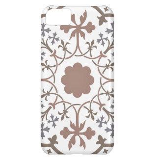 Diseño floral medieval: Flores y hojas retras Carcasa iPhone 5C