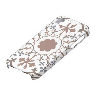 Diseño floral medieval: Flores y hojas retras Funda Para iPhone SE/5/5s