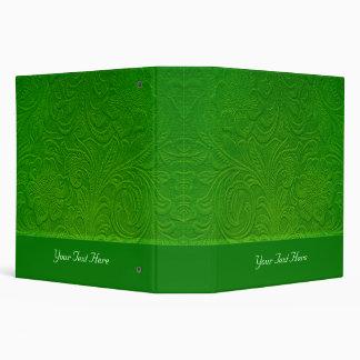 """Diseño floral Mirada-Grabado en relieve ante verde Carpeta 2"""""""