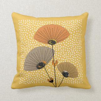 Diseño floral moderno de la mezcla del lunar de cojin