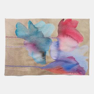 Diseño floral moderno del arte de la flor de la ac toallas de mano