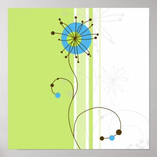Diseño floral moderno - poster