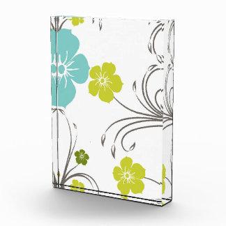 Diseño floral moderno verde y azul