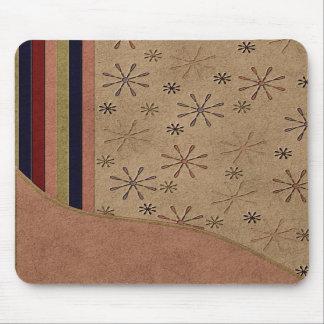 Diseño floral Mousepad del ante de imitación