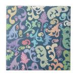 diseño floral multicolor azulejos ceramicos