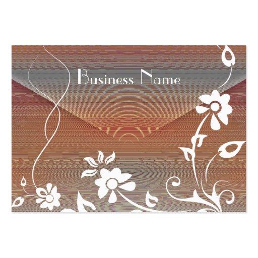 Diseño floral natural del placer de la tarjeta del plantilla de tarjeta de visita