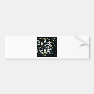 Diseño floral negro del verano pegatina para coche