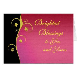Diseño floral pagano adaptable de la tarjeta de fe