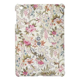Diseño floral para el material de seda con flujo e