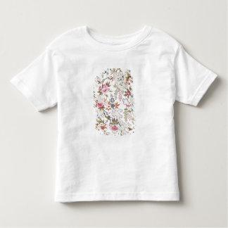 Diseño floral para el material de seda con flujo t shirts