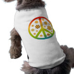 Diseño floral playera sin mangas para perro