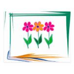 Diseño floral postal