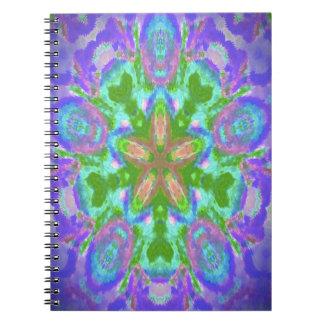 Diseño floral púrpura hermoso libreta