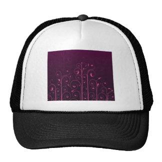Diseño floral púrpura impresionante gorros