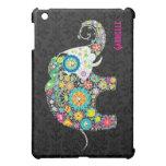 Diseño floral retro 2 del elefante iPad mini coberturas