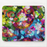 Diseño floral retro colorido romance tapetes de ratón