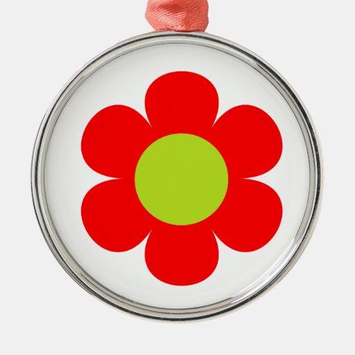 Diseño floral rojo ornamento para reyes magos