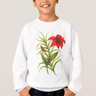 Diseño floral rojo sudadera